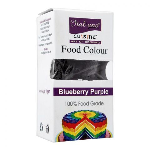 Italiano Food Colour, Blueberry Purple, 10g
