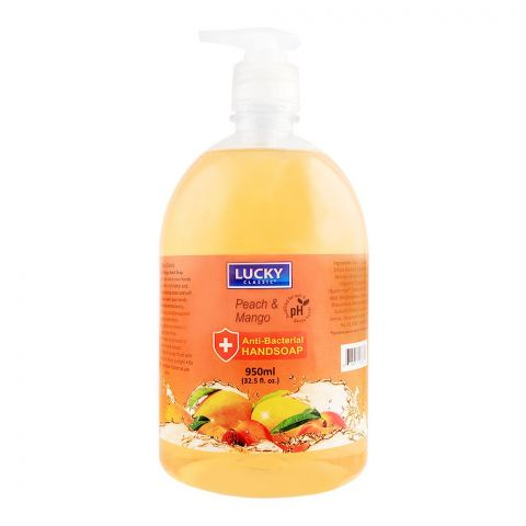 Lucky Peach & Mango Anti Bacterial Hand Soap, 950ml