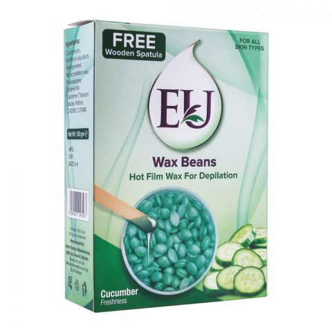 EU Cucumber Freshness Wax Beans Hot Film Wax For Depilation, For All Skin Types, 100g