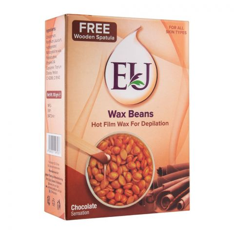 EU Chocolate Sensation Wax Beans Hot Film Wax For Depilation, For All Skin Types, 100g