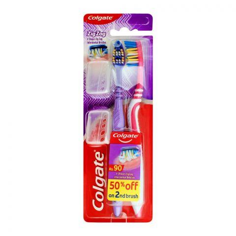 Colgate Zig Zag Soft Toothbrush, 2-Pack