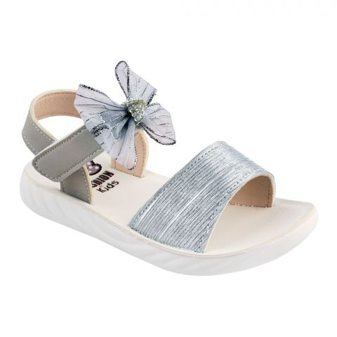 Kids Sandals, For Girls, A-2, Silver