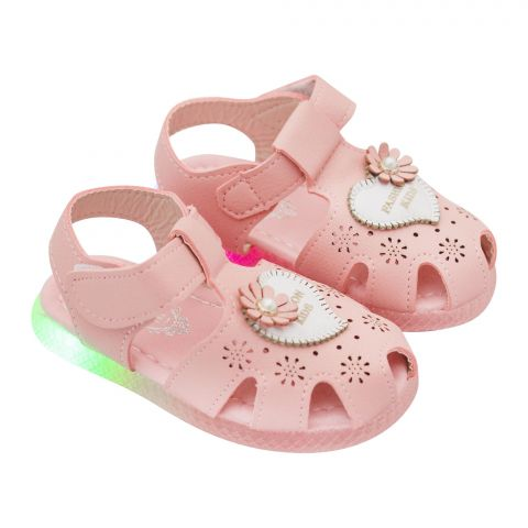 Kids Sandals With Light, For Girls, 818, Pink