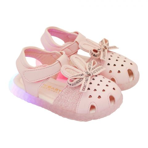 Kids Sandals With Light, For Girls, M003, Pink