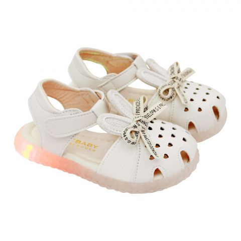 Kids Sandals With Light, For Girls, M003, Beige