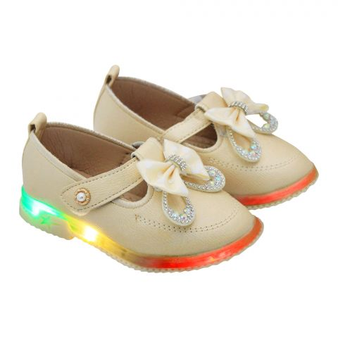 Kids Sandals With Light, For Girls, A06, Golden