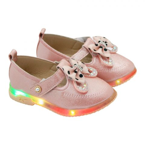 Kids Shoes With Light, For Girls, A06, Pink