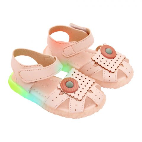 Kids Sandals With Light, For Girls, 8808-7, Pink