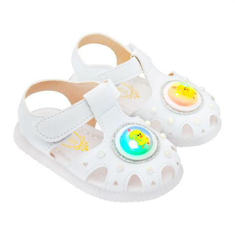 Kids Sandals With Light, For Girls, 885, White