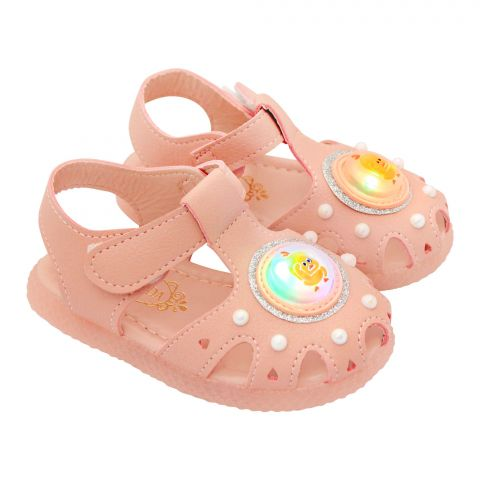 Kids Sandals With Light, For Girls, 885, Pink