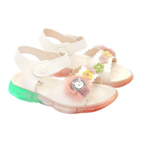 Kids Sandals With Light, For Girls, MA-1B, Beige