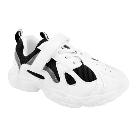 Kids Shoes, For Boys, B27, Black/White