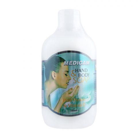 Medicam Pearl Protein & Vitamin E Hand & Body Soap 500ml