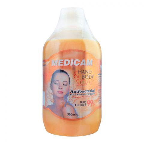 Medicam Kills 99% Germs Antibacterial Hand & Body Soap, 500ml