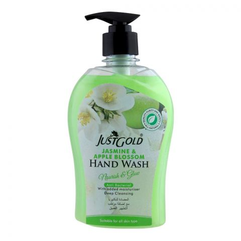 Just Gold Jasmine & Apple Blossom Anti-Bacterial Hand Wash, 500ml
