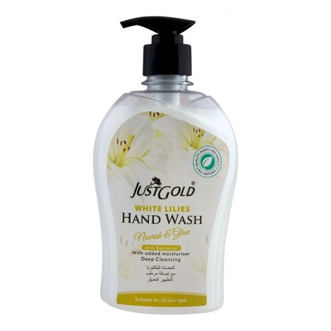 Just Gold White Lilies Anti-Bacterial Hand Wash, 500ml