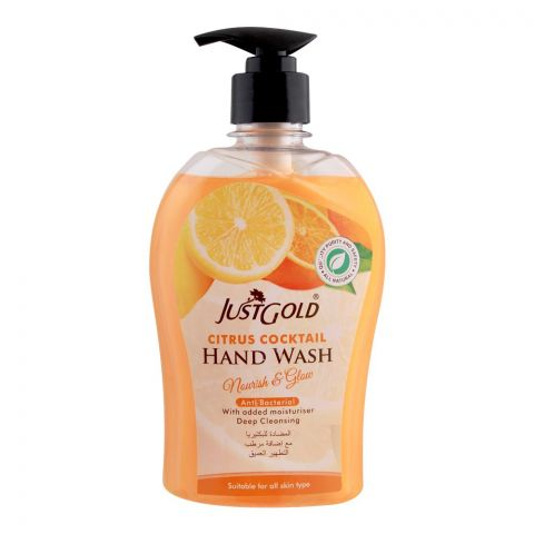 Just Gold Citrus Cocktail Anti-Bacterial Hand Wash, 500ml