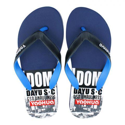 Men Slippers, D-2, Blue