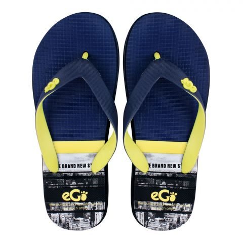 Men Slippers, D-4, Yellow