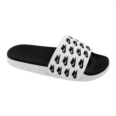 Men Slippers, D-8, White