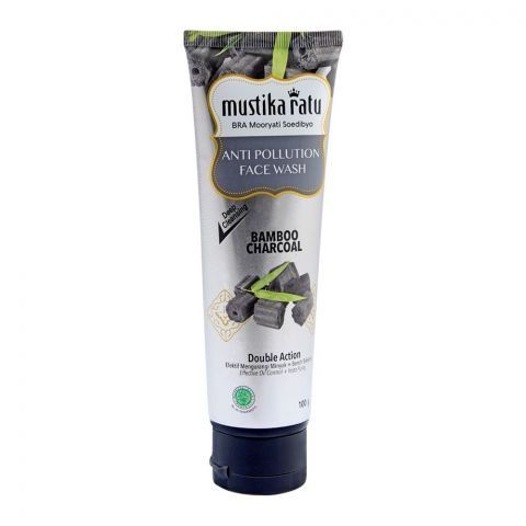 Mustika Ratu Bamboo Charcoal Anti Pollution Face Wash, 100g