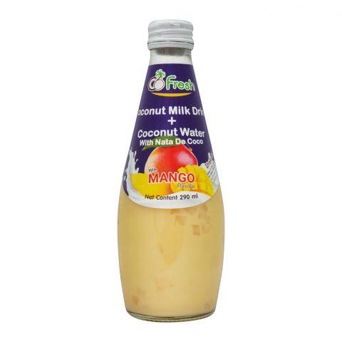 CoFresh Coconut Milk Drink, Mango, Bottle, 290ml