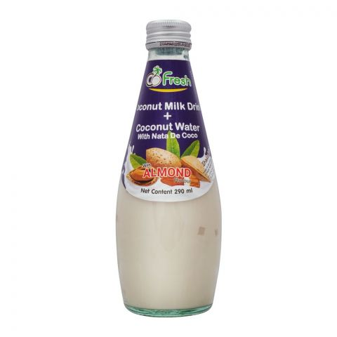 CoFresh Coconut Milk Drink, Almond, Bottle, 290ml