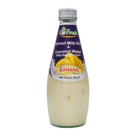 CoFresh Coconut Milk Drink, Banana, Bottle, 290ml