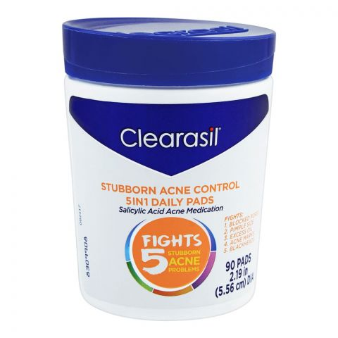 Clearasil Stubborn Acne Problems 5-In-1 Daily Pads, 90-Pack