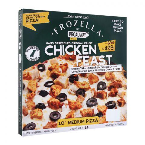 Broadway Frozen Pizza, Chicken Feast, 10 Inches, Medium, 570g
