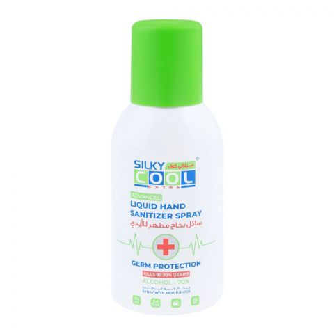 Silky Cool Extra Advanced Liquid Hand Sanitizer Spray, 70% Alcohol, 100ml