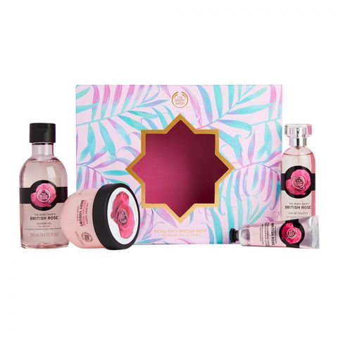 The Body Shop Petal Soft British Rose Collection Gift Set, 91906