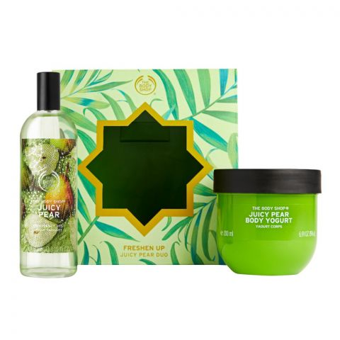 The Body Shop Freshen Up Juicy Pear Duo Gift Set, Body Yogurt + Fragrance Mist, 91852