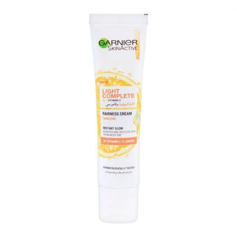 Garnier Skin Active Light Complete Vitamin C Instant Glow Fairness Cream, 25ml
