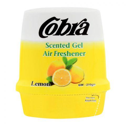 Cobra Scented Gel Air Freshener, Lemon, 210g