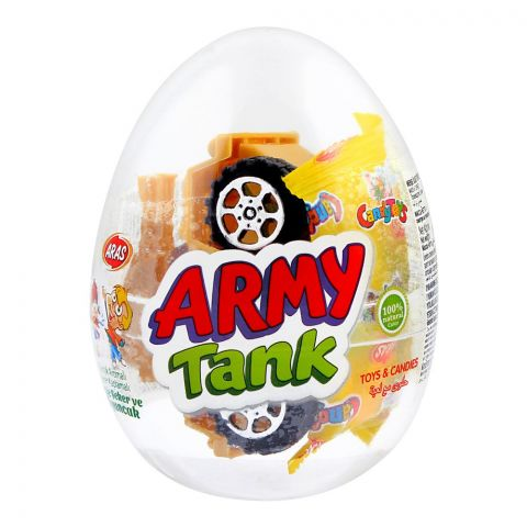 Aras Candy Toys, Army Tank, Toys & Candies, 10g