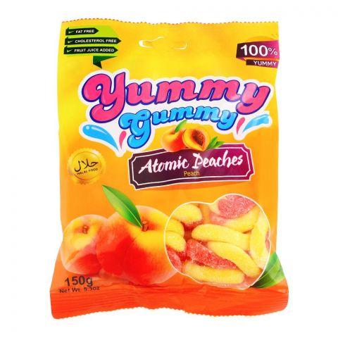 Yummy Gummy Jelly Atomic Peaches, Gluten Free, 150g