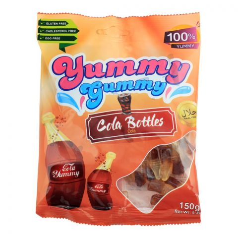 Yummy Gummy Jelly Cola Bottles, Gluten Free, 150g