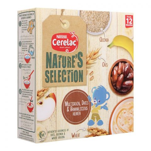 Nestle Cerelac Nature's Selection Cereal, Multigrain, Dates & Bananalicious, 175g