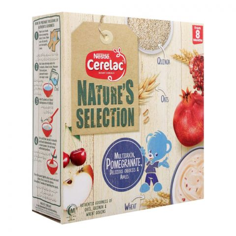 Nestle Cerelac Nature's Selection Cereal, Multigrain, Pomegranate, Cherries & Apples, 175g