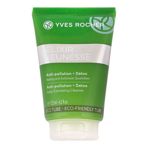 Yves Rocher Elixir Anti-Pollution + Detox Daily Exfoliating Face Cleanser, 125ml