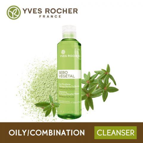 Yves Rocher Sebo Vegetal Cleansing Purifying Micellar Water, 200ml