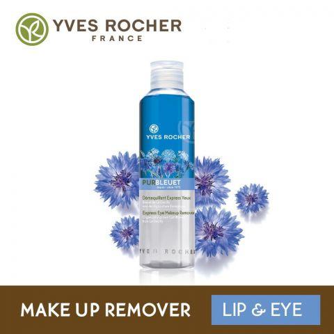 Yves Rocher Pur Bleuet Express Waterproof Eye Makeup Remover, 100ml