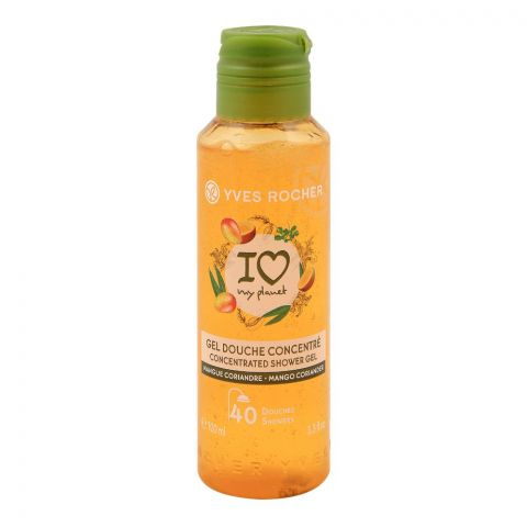Yves Rocher I Love My Planet Concentrated Shower Gel, Mango Coriander, 100ml