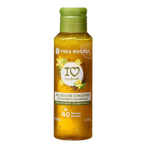 Yves Rocher I Love My Planet Concentrated Shower Gel, Bourbon Vanilla, 100ml