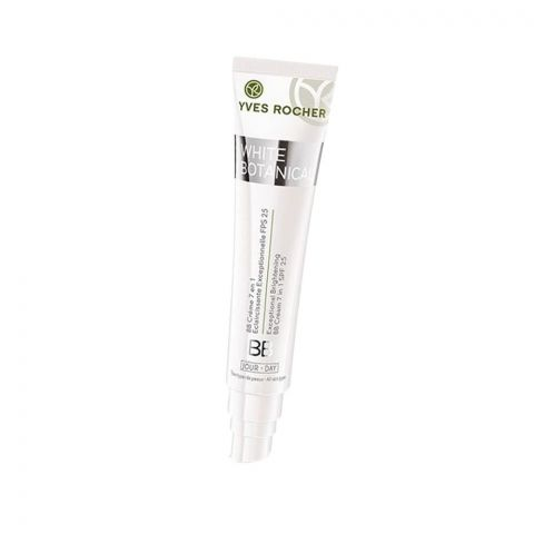 Yves Rocher White Botanical Exceptional Brightening 7-In-1 BB Day Cream, Light, SPF 25, All Skin Types, 40ml