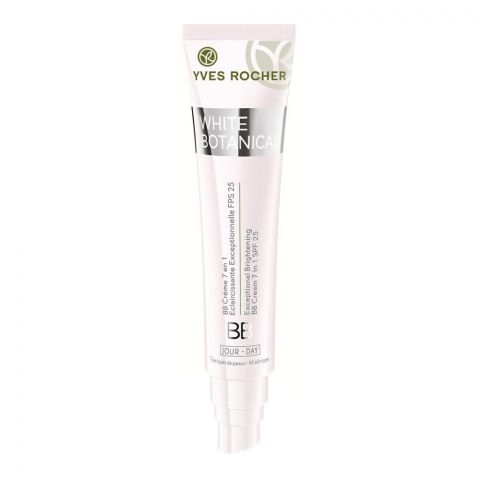 Yves Rocher White Botanical Exceptional Brightening 7-In-1 BB Day Cream, Medium, SPF 25, All Skin Types, 40ml