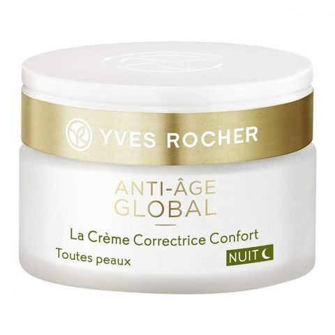 Yves Rocher Anti-Age Global Comfort Night Cream, All Skin Types, 50ml