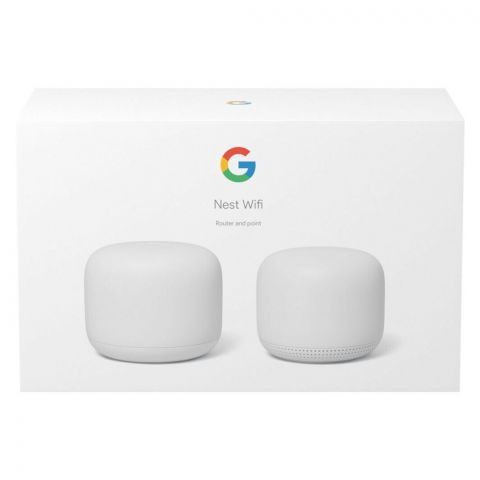 Google Nest WiFi Router + One Access Point, White