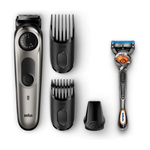 Braun Rechargeable Beard Trimmer and Hair Clipper, Black, BT5060
